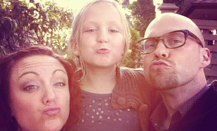 The Fishers doing duck faces
