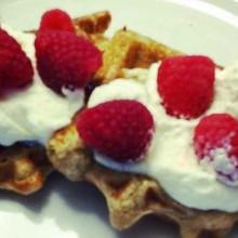 gluten free oat waffles