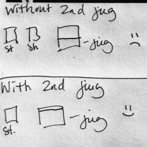 Without second jug and with second jug info graphic