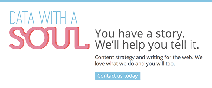 Data with a Soul Canadian content strategy company