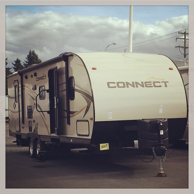 travel trailer in rv lot